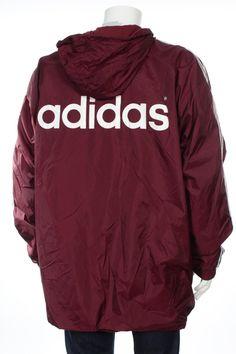 4dc1506d9 Vintage 90s Adidas adidas trefoil Hip Hop Rap Style Jacket Big Logo Spell  Out Maroon Size XL/XXL D10