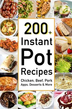 Looking for instant pot recipes for chicken beef pork sides desserts and more? You are going to love this free extensive instant pot recipe collection! Instant Pot Pressure Cooker, Pressure Cooker Recipes, Pressure Cooking, Slow Cooker, Pressure Pot, Beef Recipes, Chicken Recipes, Healthy Recipes, Healthy Food
