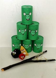 Angry Bird DIY game, mount the sling shot on a stable surface for physically disabled kids..