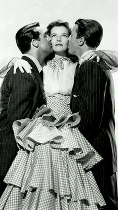 "Cary Grant, Katherine Hepburn and Jimmy Stewart in ""Philadelphia Story"", 1940"