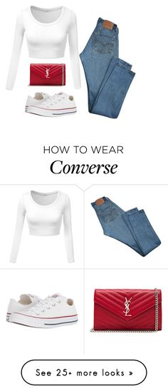 """Untitled #1436"" by star-lightt on Polyvore featuring Levi's, Converse and Yves Saint Laurent"