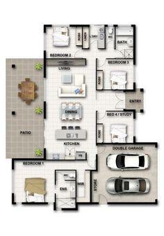 Design Range - Cougar Homes House Layout Plans, New House Plans, Dream House Plans, Small House Plans, House Layouts, House Floor Plans, House Floor Design, Sims House Design, House Furniture Design