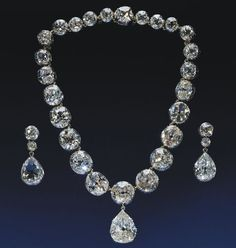 Coronation necklace and earrings from 1858