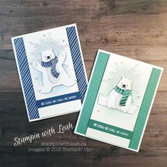 Christmas Card Crafts, Christmas Wishes, Christmas Projects, Christmas Holidays, Animal Cards, Stamping Up, Stampin Up Cards, Penguins, Clever