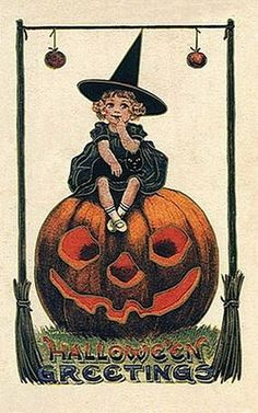 .Halloween post cards are rare and can be expensive...