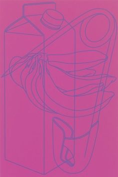 Michael Craig-Martin, Untitled (magenta/purple) on ArtStack #michael-craig-martin #art
