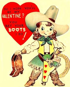Happy Valentines day from me and the cutest little vintage cowgirl! 🤠❤️🌹Happy Valentines day from me and the cutest little vintage cowgirl! My Funny Valentine, Valentine Images, Valentine Greeting Cards, Vintage Valentine Cards, Vintage Greeting Cards, Valentine Day Crafts, Vintage Holiday, Vintage Postcards, Printable Valentine