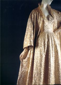 Dior: 1953 Satin and sequin Evening Dress Annapurna from the Tulipe collection.