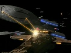 """Star Trek: Deep Space Nine """"Sacrifice of Angels"""" gifs: the Federation fleet engages the Dominion/Cardassian forces    SoA gifset 5 of 9"""