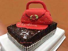 Papilles On/Off: Gâteau sac à main en pâte à sucre : gâteau à la crème de moka et gâteau au chocolat, au thermomix ou sans