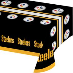 NFL 54 x 102 Plastic Tablecover All Over Print Pittsburgh Steelers/Case of 12 Tags: Pittsburgh Steelers; Tablecover; NFL Tableware; Pittsburgh Steelers party;Pittsburgh Steelers party tableware;Pittsburgh Steelers Tablecover; https://www.ktsupply.com/products/32786326553/NFL-54-x-102-Plastic-Tablecover-All-Over-Print-Pittsburgh-SteelersCase-of-12.html