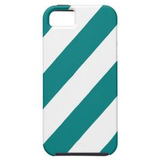 Teal White Stripes iPhone 5 Cover