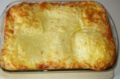Cheese and Ham Souffle Greek Recipes, Lasagna, Food To Make, Savoury Pies, Appetizers, Pizza, Cooking Recipes, Cheese, Pastries