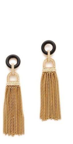 Rachel Zoe Onyx Tassel Earrings     $250.00