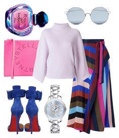 """Crazy pastels"" by jasminsangalyan on Polyvore featuring Diane Von Furstenberg, Christian Louboutin, STELLA McCARTNEY, Petar Petrov, For Art's Sake, Christian Dior and pastelsweaters"