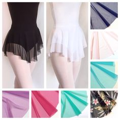 Have some fun with your leotard! Royall Dancewear mesh ballet SAB dance skirts.