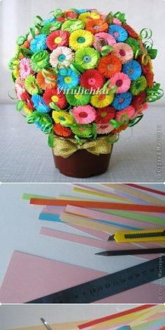 prachtige bloemetjes maken, deze heb ik nog niet eerder gezien