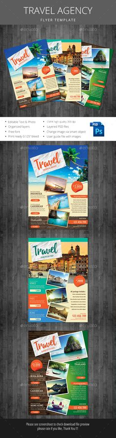 Travel Agency Flyer Template PSD. Download here: http://graphicriver.net/item/travel-agency-flyer/15993054?ref=ksioks