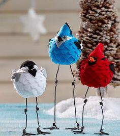 How To Make Felt Caroling Birds