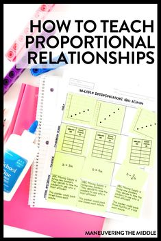 Ideas for teaching proportional relationships - including activities and common misconceptions to avoid in your math classroom. Relationship Posts, Relationships, Common Core Math Standards, Math Words, Math About Me, 7th Grade Math, Instructional Coaching, Middle School Teachers, Math Classroom