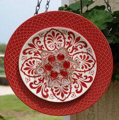 Glass Plate Flower NoKill EverBlooming garden art by ARTfulSalvage