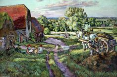 """""""Farm In Sussex"""" by Duncan Grant (1885-1978, United Kingdom)"""