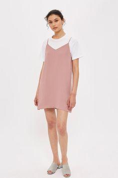 Eyelet Strappy Slip Dress