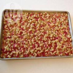 Rezeptbild: Streusel Rhabarberkuchen vom Blech