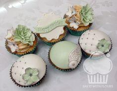 Vintage Green Cupcakes