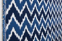 Tela para exterior zig zag colores azules - Outdoo fabric zigzag patterned by Equipo DRT