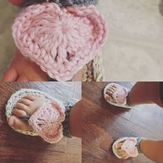These are so adorable, Valentine Slippers! She is only a year old and likes to model and wear what mommy makes her!