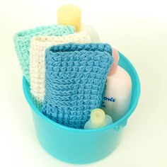 Sampler Washcloth Tunisian Crochet Pattern - Petals to Picots--free pattern