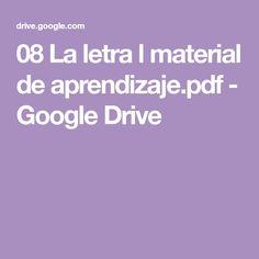 08 La letra l material de aprendizaje.pdf - Google Drive Google Drive, Montessori, Teaching Reading, Letter Activities, Letter V, Learning