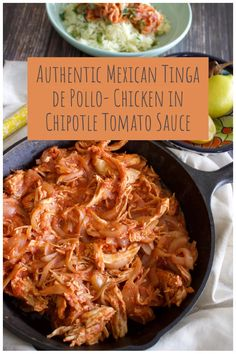 Authentic Mexican Chicken Recipes, Mexican Shredded Chicken, Shredded Chicken Recipes, Mexican Food Recipes, Dinner Recipes, Authentic Chicken Tinga Recipe, Easy Chicken Tinga Recipe, Mexican Desserts, Chipotle In Adobo Sauce