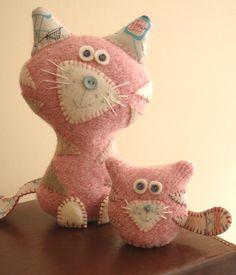 Pink Plush Cats