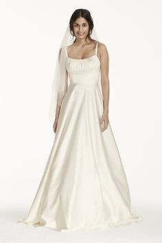 This stunning minimalistic ball gown has modern inspiration that would be perfect for the fashion forward bride!
