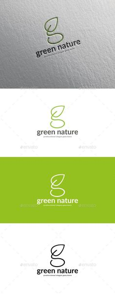 Letter G Leaf #Logo - Letters Logo #Templates Download here: https://graphicriver.net/item/letter-g-leaf-logo/20339816?ref=alena994