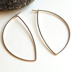 Large Gold Hoop Earrings - Avalon Hoops in 14K Gold Filled - Modern Jewelry. Simple. - by kusu via Etsy