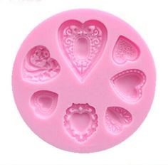 Silicone molds. Create your own resin hearts with this reusable silicone mold. Great for jewelry and crafts. Seven unique styles.