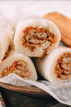 Shanghai Breakfast Rice Rolls (Ci Fan 粢饭) - Asian Recipes & Foods -You can find Shanghai and more on our website.Shanghai Breakfast Rice Rolls (Ci Fan 粢饭) - Asian Re. Chinese Breakfast, Best Breakfast, Breakfast Recipes, Taiwanese Breakfast, Rice Cooker Recipes, Cooking Recipes, Cooking Games, Drink Party, Rice Rolls