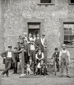 "New York circa 1900. ""Stewards and nurses, Brooklyn Navy ..."
