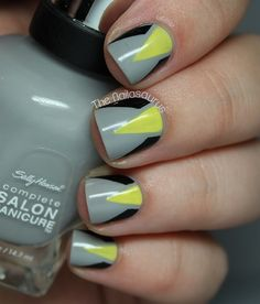Geometric Wolverine Nails