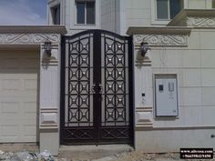 Grill Gate, Front Gate Design, Front Gates, Wrought Iron, Garage Doors, Outdoor Decor, House, Decorative Metal, Home Decor