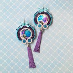 Roses - soutache earrings