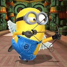 Cupid Minion taking aim. Cupid Minion taking aim. Cupid Minion taking aim. Minion Rock, Cute Minions, Minion Jokes, Minions Despicable Me, Minions Quotes, My Minion, Minions 2014, Minion Sayings, Minions Images