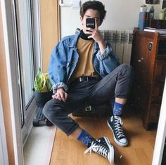 Fashion mens casual hipster menswear 42 Ideas for 2019 - Men's style, accessories, mens fashion trends 2020 Retro Outfits, Mode Outfits, Vintage Outfits, Casual Outfits, Men Casual, Casual Menswear, Plad Outfits, Classy Casual, Grunge Outfits