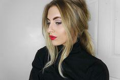 Fashion Influx | UK FASHION BLOG: CHRISTMAS MAKEUP | LINER, RED LIPS & SHIMMER