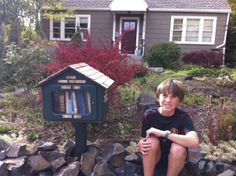 Julene Ewert. Moscow, ID. Our Little Free Library began simply. I told my dad about the idea and in a few days he had made this beautiful little library. I LOVE the tiny cedar shake roof. This little library was built out of all free materials and lots of love. It is now filled with free books! My son, loves going out everyday to see what he can find to read. A wonderful addition to our book loving community!