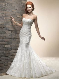 Chic Fit And Flare Organza Sweetheart Wedding Dress - pictures, photos, images