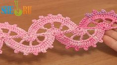 Crocheted Lace Tutorial 6 part 2 of 2 How to Crochet Tapes